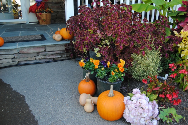 autumn porch decorations