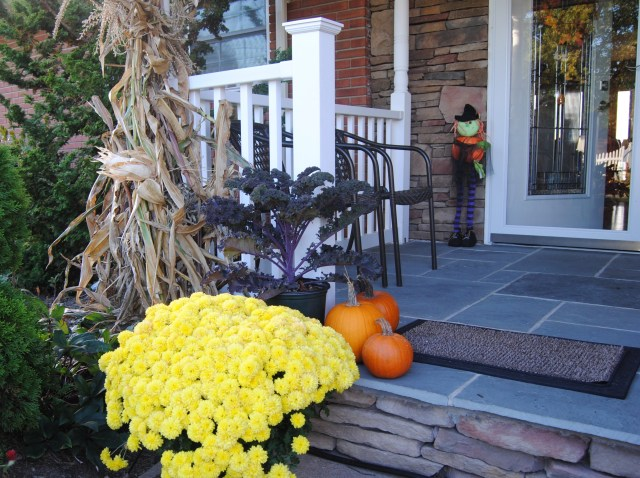 fall porch color