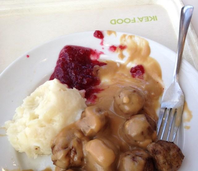 the swedish meal at IKEA