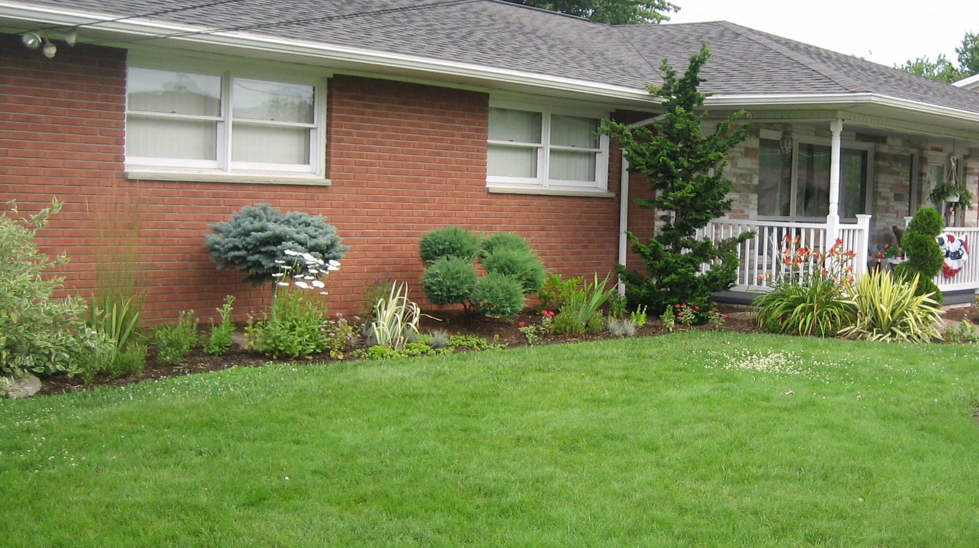 Planting Around House Foundations : Foundation plantings ? sorta like suburbia