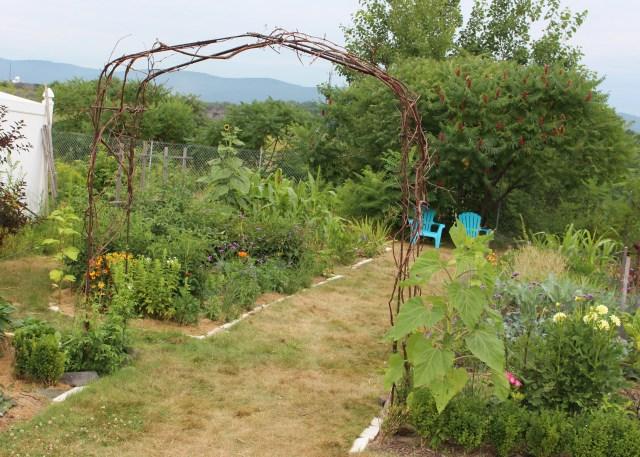 rebar garden arbor