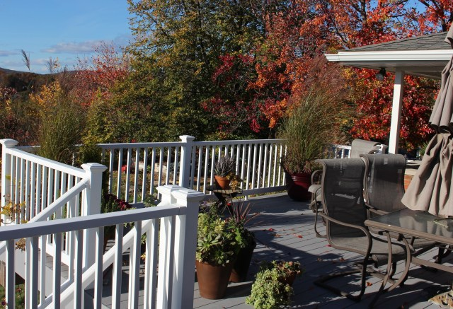 Pennsylvania deck in fall