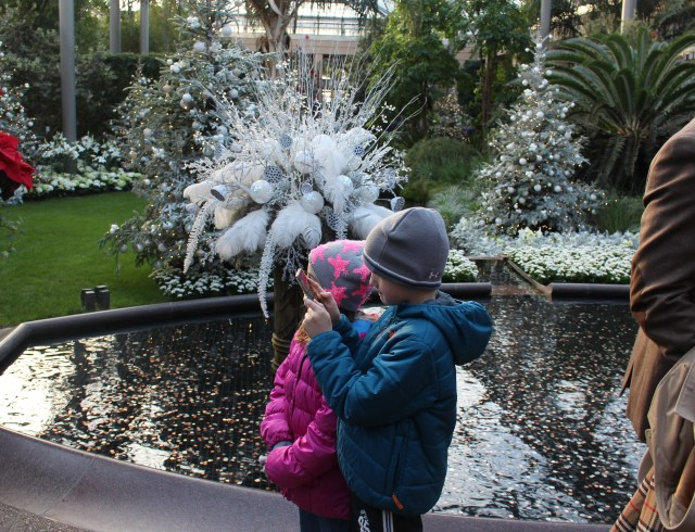 the kids at Longwood Gardens