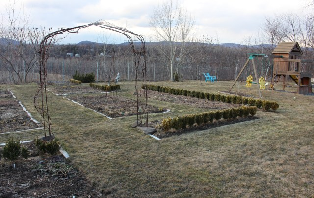 vegetable beds ready for spring