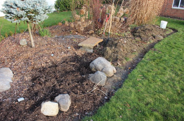 preparing new flower beds in winter