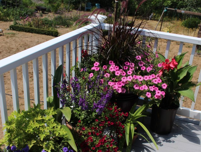 deck planting containers
