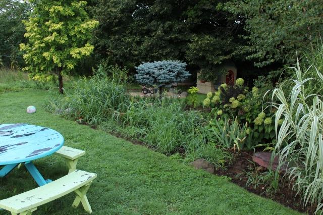 weedy flower bed crabgrass