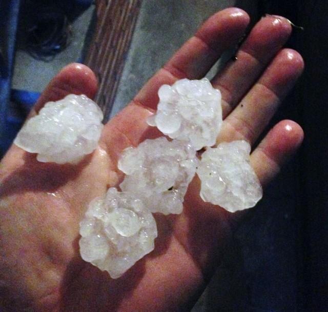 giant hailstones