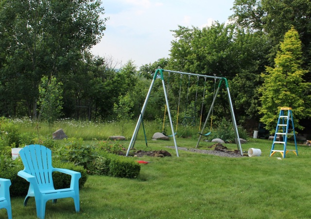 pipe swing set