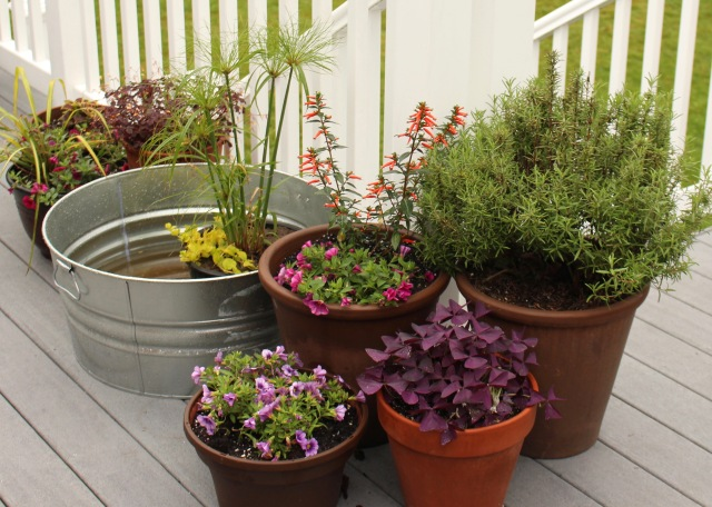 deck planters containers