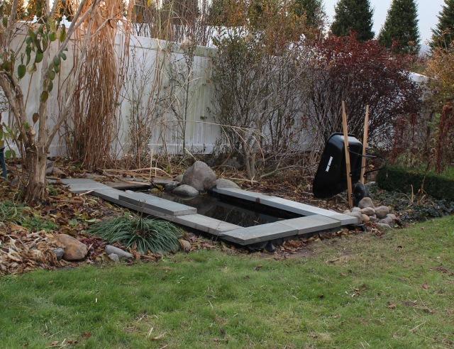 building a garden pond