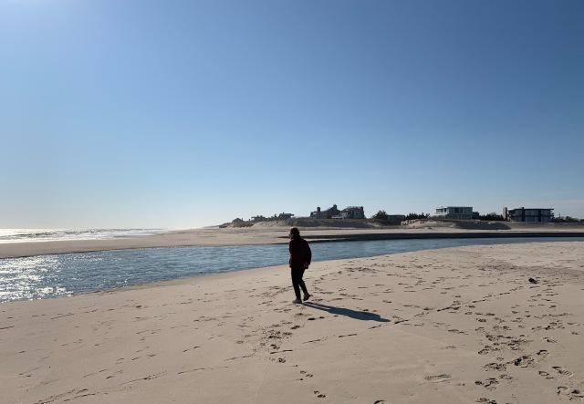 winter beach long island