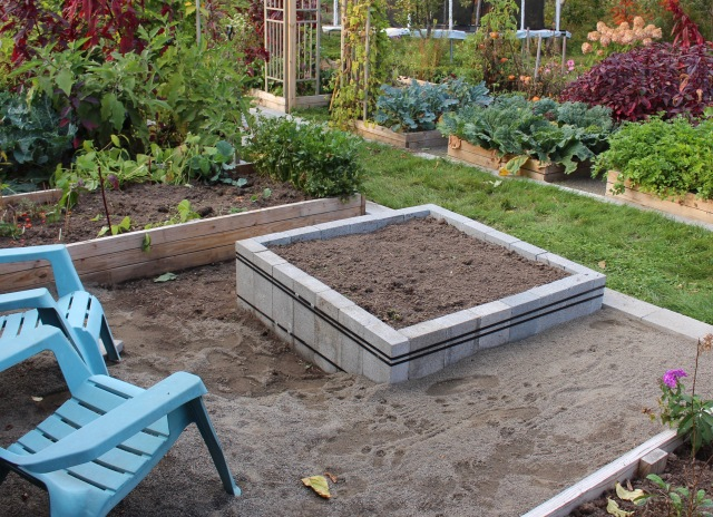 cinder block raised bed diy